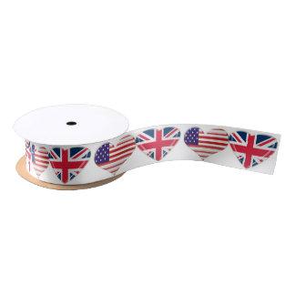 USA and UK Hearts Ribbon