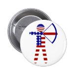 USA Archery - American Archer Button