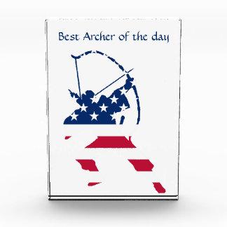 USA Archery American archer flag Acrylic Award