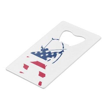 USA Archery American archer flag Credit Card Bottle Opener