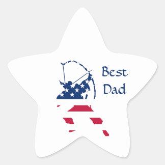 USA Archery American archer flag Star Sticker