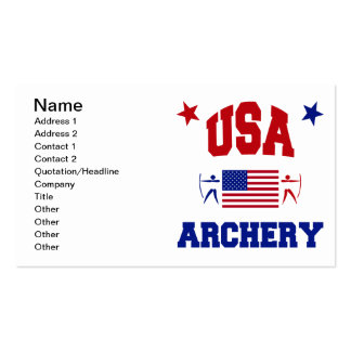 USA Archery Business Card