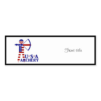 USA Archery Business Card Template