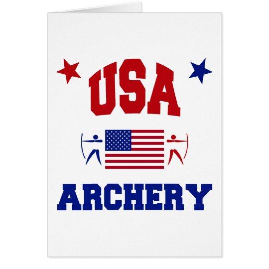 USA Archery Card