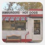USA, Arizona, Bisbee: Shady Dell Motel, All 2 Square Sticker