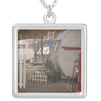 USA, Arizona, Bisbee: Shady Dell Motel, All Silver Plated Necklace