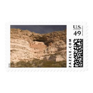 USA, Arizona, Camp Verde: Montezuma Castle Postage Stamp