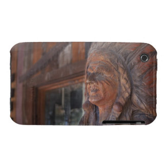 USA, Arizona, Carved statue of Native American iPhone 3 Case-Mate Case