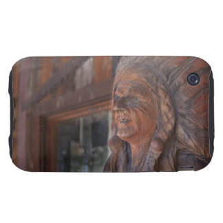 USA, Arizona, Carved statue of Native American iPhone 3 Tough Case