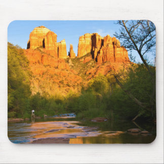 USA, Arizona. Cathedral Rock At Sunset Mouse Pad