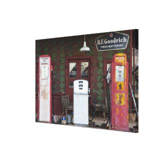 USA, Arizona. Chloride Ghost Town, old gas Canvas Print