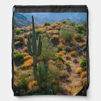 USA, Arizona. Desert View Drawstring Backpack
