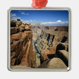 USA, Arizona, Grand Canyon National Park, Square Metal Christmas Ornament