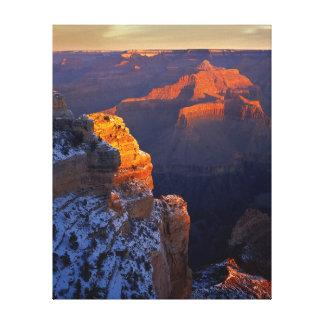 USA, Arizona, Grand Canyon National Park, Winter Canvas Print