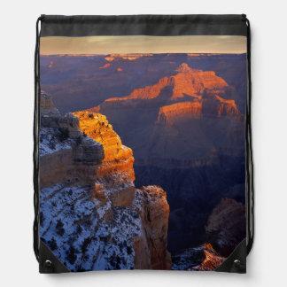 USA, Arizona, Grand Canyon National Park, Winter Drawstring Backpack