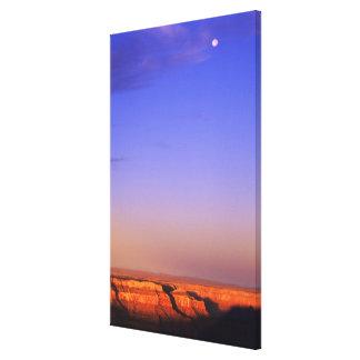 USA, Arizona, Grand Canyon NP. Moon in sky as Canvas Prints