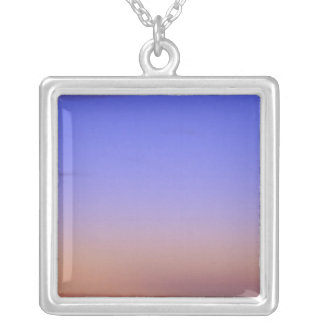 USA, Arizona, Grand Canyon NP. Moon in sky as Square Pendant Necklace