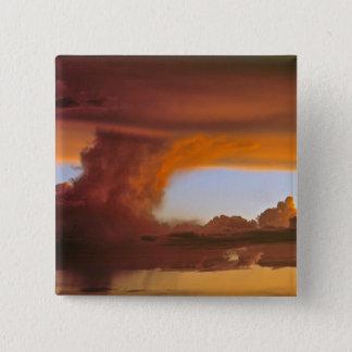 USA, Arizona, Grand Canyon NP. Sunset creates Pinback Button