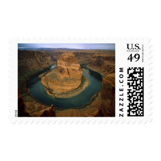 USA, Arizona. Horseshoe Bend showing erosion by Postage