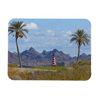 USA, Arizona, Lake Havasu City. Lighthouse next Magnet