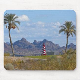 USA, Arizona, Lake Havasu City. Lighthouse next Mouse Pad