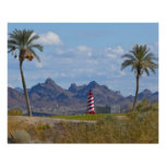 USA, Arizona, Lake Havasu City. Lighthouse next Poster