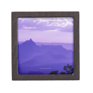 USA, Arizona, mist over Grand Canyon at dusk Jewelry Box