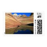 USA, Arizona, North Coyote Buttes, Vermillion Postage Stamp