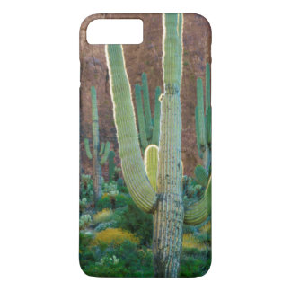 USA, Arizona. Saguaro Cactus Field By A Cliff iPhone 7 Plus Case