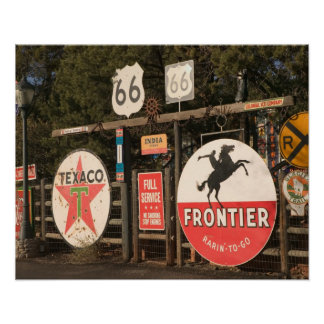 USA, Arizona, Sedona: Antique Advertising Signs