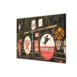USA, Arizona, Sedona: Antique Advertising Signs Canvas Print