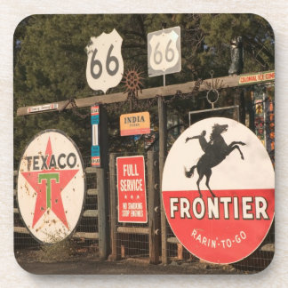 USA, Arizona, Sedona: Antique Advertising Signs Coaster
