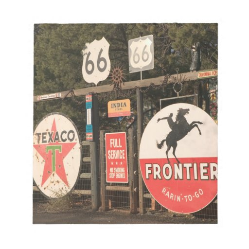 USA, Arizona, Sedona: Antique Advertising Signs Notepad