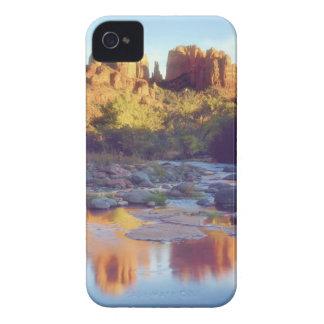 USA, Arizona, Sedona. Cathedral Rock reflecting iPhone 4 Covers