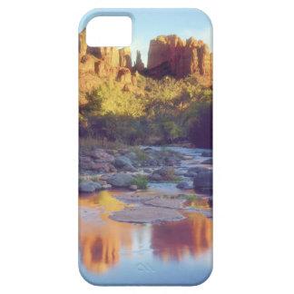 USA, Arizona, Sedona. Cathedral Rock reflecting iPhone 5 Cases