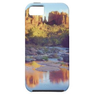 USA, Arizona, Sedona. Cathedral Rock reflecting iPhone 5 Cover