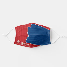 USA Arizona State Stars and Stripes Map Cloth Face Mask
