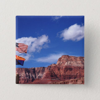USA, Arizona, Tow flags in Grand Canyon National Pinback Button