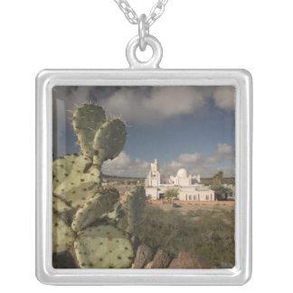 USA, Arizona, Tucson: Mission San Xavier del Bac 2 Silver Plated Necklace