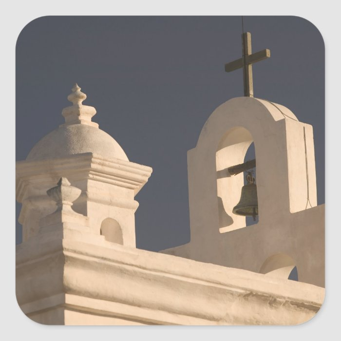 USA, Arizona, Tucson: Mission San Xavier del Bac Square Sticker