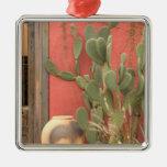 USA, Arizona, Tucson: Presidio Historic District 2 Square Metal Christmas Ornament