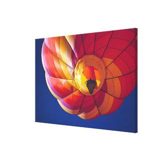 USA, Arizona, Val Vista. A colorful hot-air Canvas Print