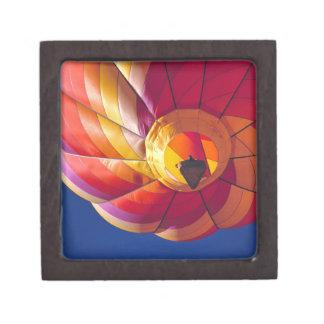 USA, Arizona, Val Vista. A colorful hot-air Jewelry Box