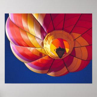 USA, Arizona, Val Vista. A colorful hot-air Poster