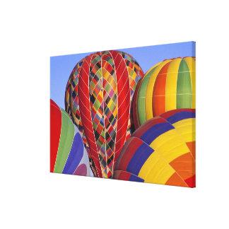 USA, Arizona, Val Vista. Colorful hot-air Canvas Print