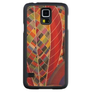 USA, Arizona, Val Vista. Colorful hot-air Carved Maple Galaxy S5 Case