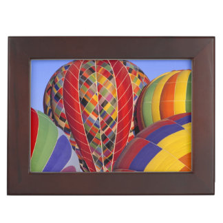 USA, Arizona, Val Vista. Colorful hot-air Keepsake Box