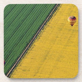 USA, Arizona, Val Vista. Hot-air balloons soar Drink Coaster