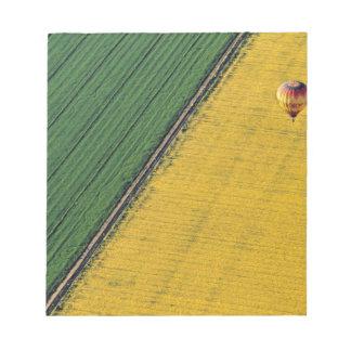 USA, Arizona, Val Vista. Hot-air balloons soar Memo Notepad