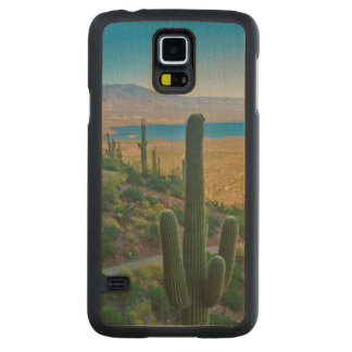 USA, Arizona. View From The Entrance To Tonto Carved Maple Galaxy S5 Case